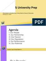 University Prep presentation to District 6 board of education 2-11-19 meeting