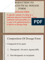 Introduction to Pharmaceutical Dosage Form