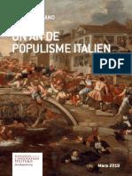 UN AN DE POPULISME ITALIEN