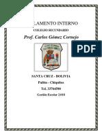 Reglamento Prof. Carlos Gómez Cornejo 2019