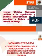 Normas Oficiales Mexicanas relativas a la organización y trámites administrativos de la seguridad e higiene en los centros de trabajo