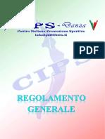 Regolamento CIPS DANZA - Aggiornato Al 05-02-2019