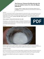 Champú de Bicarbonato de Sodio Que Hará Crecer Tu Cabello Como Por Arte de Magia