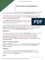 ¿Qué Se Celebra El 12 de Octubre en Latinoamérica