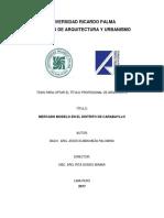TESIS_MERCADO MODELO EN EL DISTRITO DE CARABAYLLO.pdf