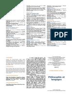 Programme du colloque philosophie et langages