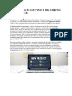 Las Ventajas de Contratar a Una Empresa de Diseño Web