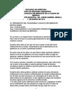 01012019   Discurso Nedela Completo de Jorge Nedela de la inauguración del período de Sesiones Ordinarias 2019