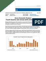 GDP 4th Quarter 2018