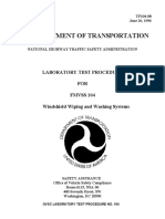 LABORATORY TEST PROCEDURE   FOR  FMVSS 104   Windshield Wiping and Washing Systems