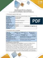 Guía de  actividades  Rúbrica de evaluación Paso 5 Presentación de Resultados. (1)