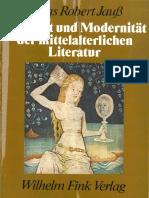 Hans Robert Jauß (1977). Alterität und Modernität der mittelalterlichen Literatur. Gesammelte Aufsätze 1956-1976. München, W. Fink..pdf
