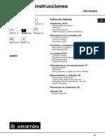 Manual Operacion secadora Ariston AV 60