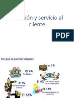 Atencion y Servicio Al Client e