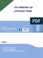 Cómo Redactar Un Curriculum Vitae