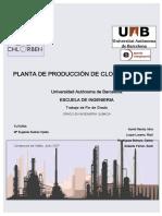 Planta de produccion de cloro-benceno