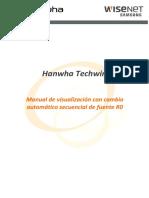 Manual de Visualización Con Cambio Automático Secuencial de Fuente R0