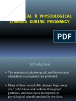 Anatomical Physiological Changes(1)