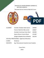 DINAMICA Resolucion de Un Mecanismo Mediante El Metodo Grafico
