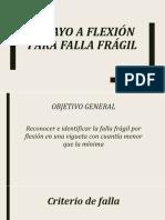 Ensayo a Flexión Para Falla Fragíl