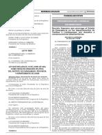 LEY Nº 30601 QUE ESTABLECE CREACION DEL DISTRITO DE CARHUAMAYO