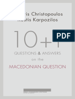 10+1 Questions and Answers on the Macedonian Question