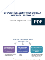 Situacion de La Desnutricion Cronica y La Anemia
