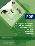 Desaprovechamiento Fauna Endemica Vertebrada LaPaz Recurso Turistico