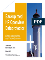 Backup Med HP Openview Dataprotector
