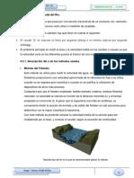 CÁLCULOS 4.3-4.3.1-4.3.2 (AFORO DEL RÍO METODO DEL FLOTADOR).docx