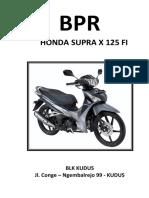Cover Supra X 125 FI