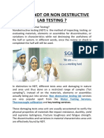 WHAT IS NDT OR NON DESTRUCTIVE LAB TESTING ?