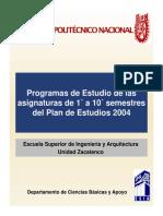 Plan de Estudios 2004