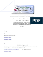 Open Meeting Installation Guide
