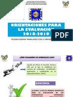 ORIENTACIONES PARA EVALUACI+ôN 2018-2019