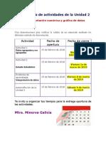 Calendario de La Unidad 2 Febrero 2019