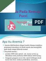 Ppt Anemia Pada Remaja Putri
