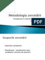 1. Introducere in Cercetarea Educațională_curs1