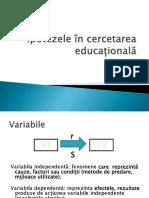 6. Ipotezele În Cercetarea Educațională_25nov2015