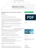 Mantenimiento de Rutina de Máquina Circular _ Máquina Circular