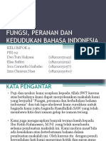 Fungsi, Peranan Dan Kedudukan Bahasa Indonesia