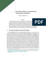 Marcelo d'Elia Branco - Ciberderechos democráticos o sociedad de la información totalitaria
