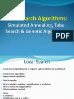 12 Local Search Algorithms - SA - TS - GA