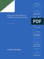 D&O - Chubb D&O Loss Prevention
