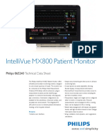 Philips IntelliVue MX800 Technical Datasheet