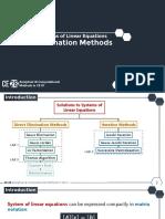 LAB 1 - Direct Elimination Methods