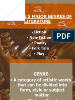 5 Major Genres of Literature