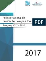 Politica de CTI 2017 2030-Paraguay