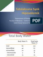 1. Tatalaksana Syok Hipovolemik & Hipoglikemia