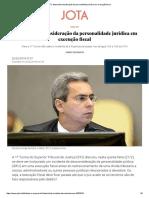 STJ Afasta Desconsideração Da Personalidade Jurídica Em Execução Fiscal